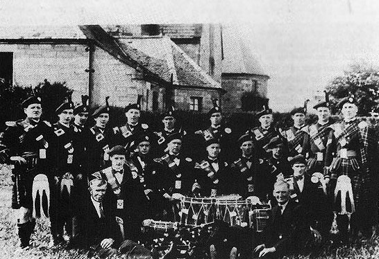 The first Prestonlinks Pipe Band