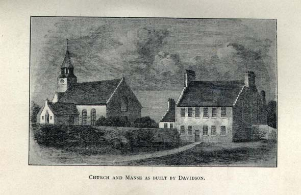 Church and Manse as built by Davidson